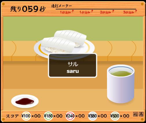 寿司タイピング